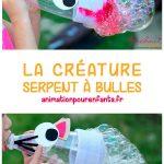 Activité extérieure pour enfants : La créature serpent à bulles