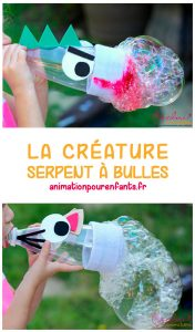 La créature serpent à bulles