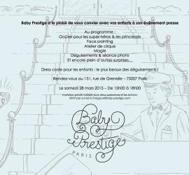 Évènement presse Baby Prestige Paris